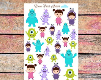 Monsters inc planner stickers
