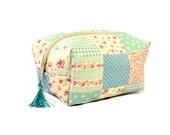 Patch pattern makeup bag // Cosmetic bag // Zipper pouch // Zipper box // Makeup box