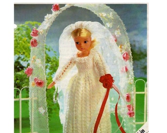 Knitting Patterns For Teenage Dolls : Knit barbie gown Etsy