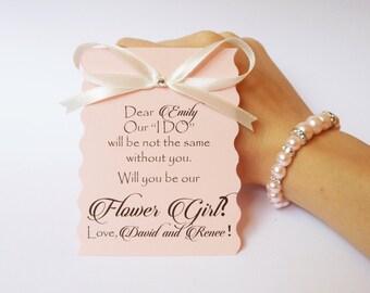 be my flower girl wish bracelet flower girl invite flower