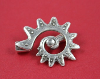 9/4 MADE IN EUROPE large toggle clasp, silver toggle clasp, sun toggle clasp (X5383ABAS)Qty1