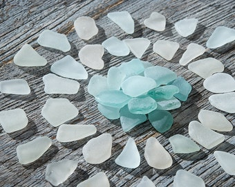 Perfect pastel sea glass for jewelry Quality seaglass mix Naturally beach glass Jewelry supplies Pastel seaglass Craft supplies / 50 pcs