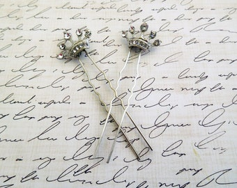 bride hair accessory silver wedding hair pins set of 2 bridal headpiece rhinestone hair pins bridal bobby pins for bride