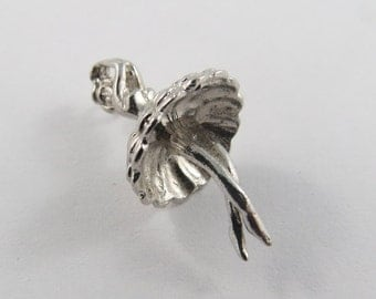 Woman Dancing Vintage Sterling Silver Charm.