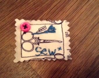 Love Sewing Ravioli Brooch