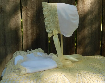 Diaper Cover & Bonnet - Heirloom Style