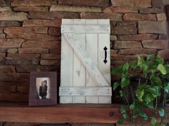 Mini Barn Door Wall Hanging Wood Shutters Barn By Elevenowlsstudio