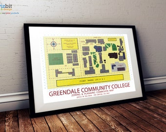 Greendale Community College Map - Be your own Dean - print / art / poster