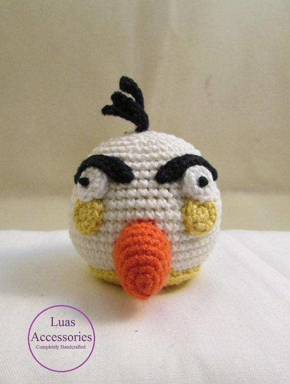 Angry White Bird uccelli Angry Amigurumi Crochet Angry Bird