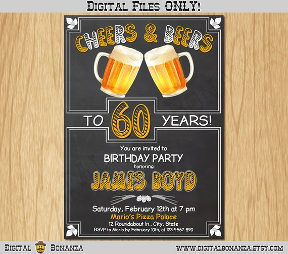 50th 60th 70th any age birthday invitation cheers beers invite il570xn filmwisefo