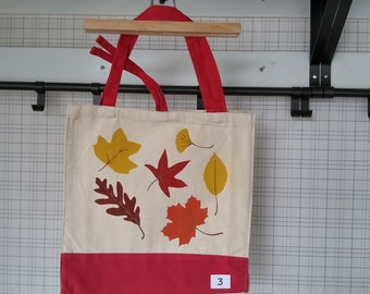 Oops I Smudged it Again, Misprint, Canvas Tote Bag,Autumn Leaves, Fall Colors, Reusable Tote Bag, Eco Friendly Bag, Shopping Bag