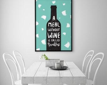 Wine Print, Fashion Print, Kitchen Decor, Wine Poster, Kitchen Art, Wine Part 93