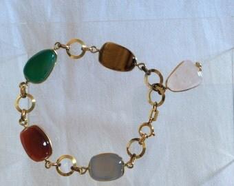 Vintage bracelet, semi precious stones