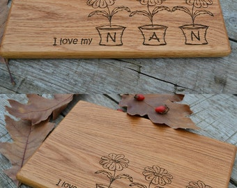 nana gift christmas gifts for nana grandmother gift mothers day wooden cutting board kitchen decor gift - Plywood Kitchen Decor