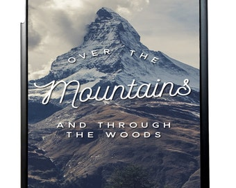 Over The Mountains Quote For iPad 2/3/4 iPad Mini 1/2 and iPad Air