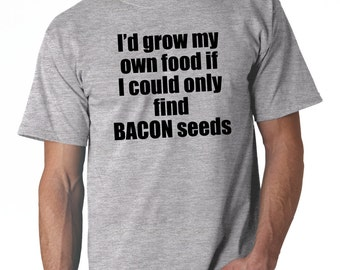 I'd Grow My Own Food T Shirt  // Funny Tee Shirts - Sport Grey Tee