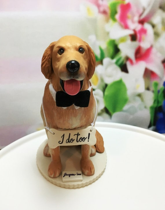 Cake Topper Golden Retriever