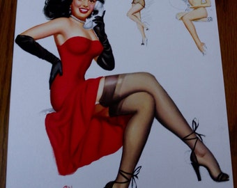 Thompson Pin Up Girl 1950's Print