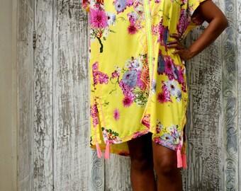 SALE!!! Kaftan Tassels/Short Dress Tasseks/Caftan tassels/Kaftan embroidery/Summer Kaftan * MARGARIDA KAFTAN