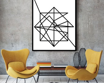 Wire, Modern Art, Minimalist Poster, Art Print, Abstract Geometric, Art  Poster