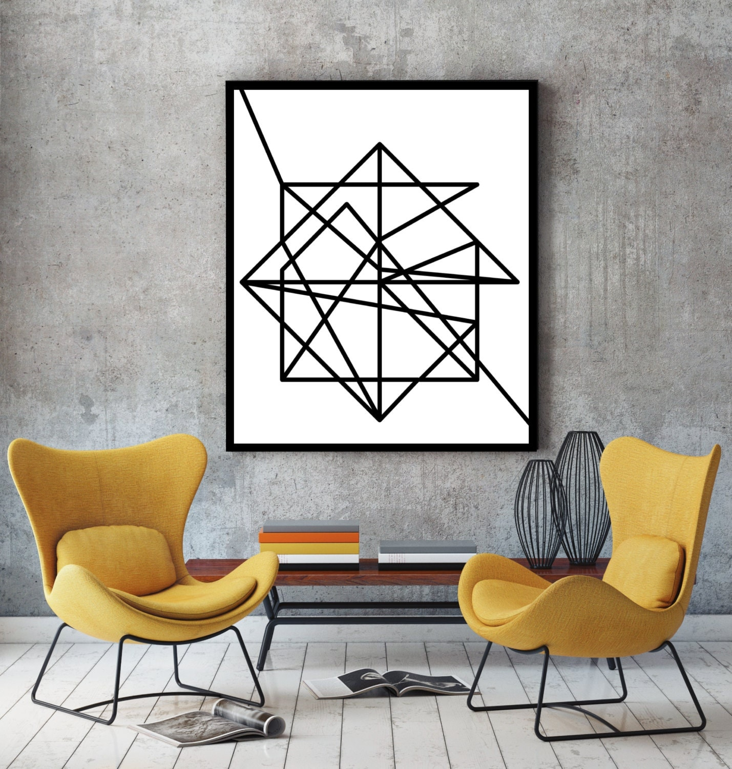wire modern art minimalist poster art print abstract. Black Bedroom Furniture Sets. Home Design Ideas