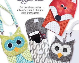 "NEW PATTERN ""Fox and Owl Cell Phone Cases"""