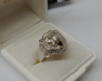Lion's head ring 835 Silver Lion SR669