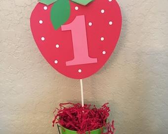 Strawberry Shortcake Inspired Centerpiece