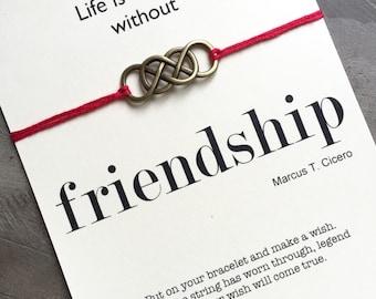 Friendship bracelets, Wish bracelet,  Friendship, bff bracelets, Gift for best friend, Wishing Bracelet, Infinity bracelet, A25.