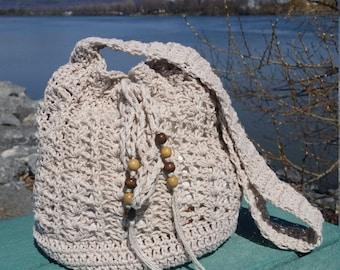 Crochet Bag,  Crochet Summer handbag, Tote Bag, Crochet Boho Handbag,  Boho Purse, Crochet Beach Handbag