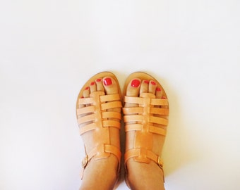 Greek Style Leather Sandals in variety of colours