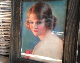 Pretty Lady! Vintage print from the 20s or 30s