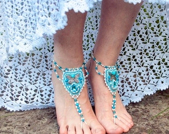 ankletsbeach anklets beaded anklet anklet boho ankle wedding foot jewelry