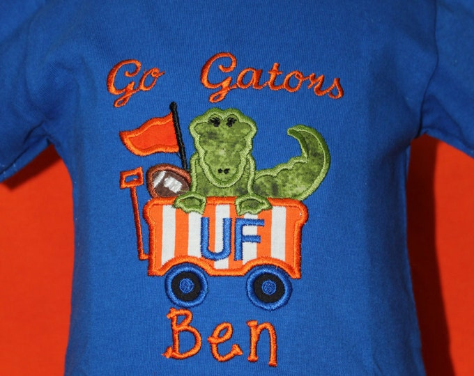 UF Florida Gator boy shirt, Gator t shirt, Royal Blue t shirt, Boys Gator shirt, UF, Florida,University of Florida boy shirt,Orange and Blue