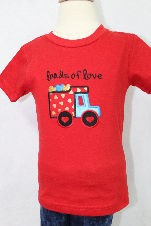 boy valentines day shirt personalized boys valentines day shirt valentines day dump truck shirt for boys red valentines day t shirt - Boys Valentines Day Shirts