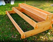 Large Raised Cedar Garden Bed Tiered, Raised Planters Raised Beds Pyramid Planter Outdoor Planter Large Planter Herb Garden Vegetable Garden