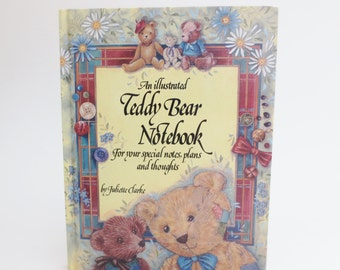 Teddy Bear Blank Journal Book, Vintage Blank Journal Notebook with Teddy Bear Illustrations & Quotations, Blank Book, Diary Writing Journal