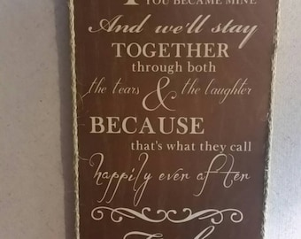Happily Ever After Customized Bride and Groom Gift Wall Hanging