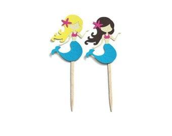 Cupcake Toppers, Mermaid Party Decor, Mermaid Cupcake, Mermaid Toppers, Mermaid Party, Under the Sea, Mermaid Birthday, Mermaid Shower