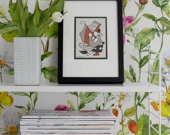 Summer Vibes Removable Wallpaper, Vinyl Wallpaper, Temporary Wall Decal, Peel & Stick Wallpaper, 243