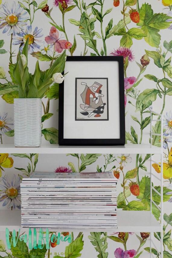 Summer vibes removable wallpaper vinyl wallpaper temporary for Temporary vinyl wallpaper