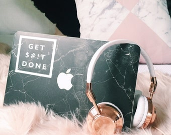 Get Shit Done Sticker - Vinyl Decal - Quote Decal - Quote Sticker - Vinyl Sticker - Laptop Sticker - Laptop Decal Girly Decal Tumblr Sticker