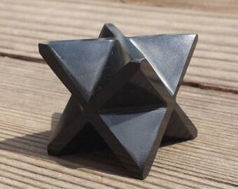 Large (50mm) ONYX Natural Gemstone Merkaba Star (One)