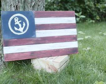 Custom Wood Flag