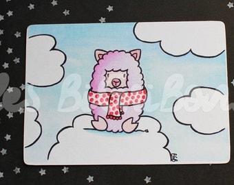 Little Lama greeting card