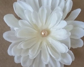 white flower on choice of headband