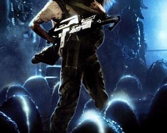 ALIENS Movie Poster Sci Fi Horror Predator