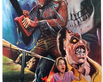 EVIL DEAD II Movie Poster Rare Bruce Campbell Sam Raimi Horror