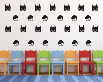 Superhero Wall Decal Etsy - Superhero wall decals application
