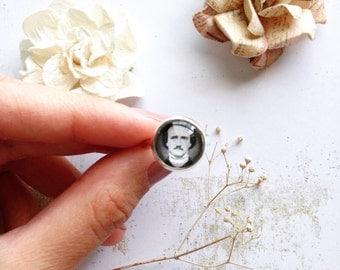 Edgar Allan Poe Ring // Steampunk Ring // Edgar Allan Poe Jewelry // Literary Jewelry // Pop Culture Jewelry // Steampunk Jewelry